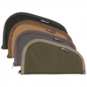 ASSORTED EARTHTONE AND CAMO PISTOL CASES - 13 INCHES