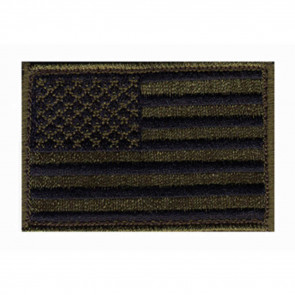 PATCH US FLAG H&L SUBDUED OD GRN