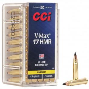 V-MAX RIMFIRE VARMINT AMMUNITION - 17 HMR, POLY-TIP V-MAX, 17 GRAIN