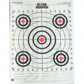 SCOREKEEPER TARGETS - FLUORESCENT ORANGE BULL - 100 YD. SMALL BORE RIFLE (12 PACK)