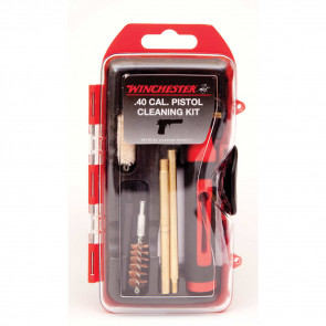 WINCHESTER MINI PISTOL CLEANING KIT - 14 PIECE, 40 CAL/10MM