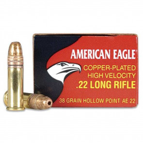 AMERICAN EAGLE® - .22LR - COPPER PLATED HP - 38GR - 40RD/BX