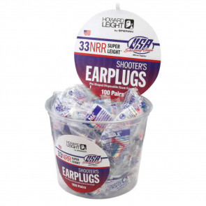 USA COLORS SHOOTER EARPLUGS - 100 PACK