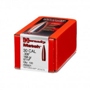 MATCH BULLETS - 30 CALIBER, .308, 168 GRAIN, BTHP