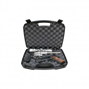 SINGLE LATCH 2-HANDGUN CASE - BLACK