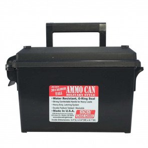 AMMO CAN 30 CALIBER TALL - BLACK