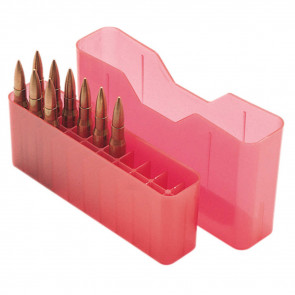 J-20 SERIES MEDIUM RIFLE AMMO BOX - 20 ROUND - CLEAR RED