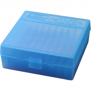 P-100 SERIES X-LARGE HANDGUN AMMO BOX - 100 ROUND - CLEAR BLUE
