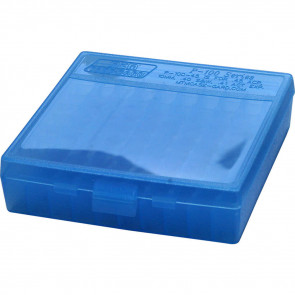 P-100 SERIES LARGE HANDGUN AMMO BOX - 100 ROUND - CLEAR BLUE