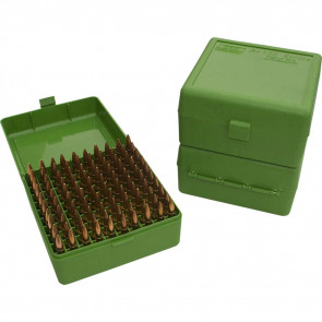 RM-100 SERIES MEDIUM RIFLE AMMO BOX - 100 ROUND - GREEN