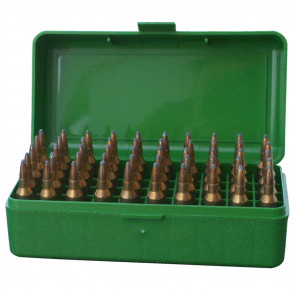 R-50 SERIES FLIP TOP RIFLE AMMO BOX - 50 ROUND - GREEN