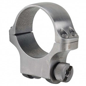 30MM MEDIUM SCOPE RING WITH STAINLESS FINISH