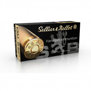 SELLIER & BELLOT HANDGUN AMMUNITION - 45 AUTO - FMJ - 230 GR