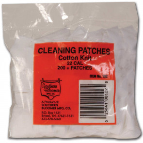 COTTON KNIT CLEANING PATCHES - .22 CALIBER RIFLE, (200 PACK)