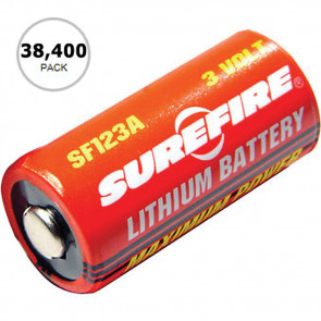 123A LITHIUM BATTERIES, BOX OF 38,400