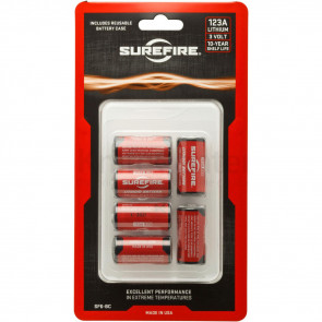 123A LITHIUM BATTERIES, 6 PACK