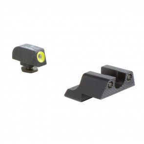 GLOCK HD NIGHT SIGHT SET - YELLOW FRONT OUTLINE MODEL 42 / 43