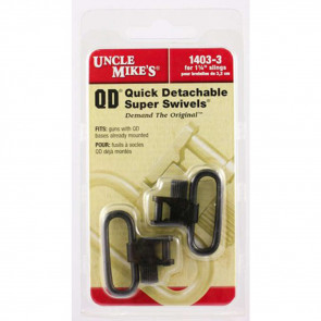 QD SUPER SWIVEL WITH TRI-LOCK - BLUED, 1 1/4 INCH