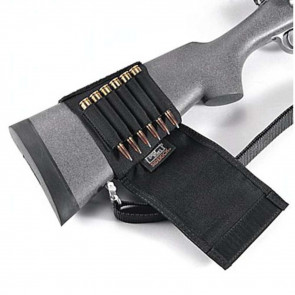 BUTTSTOCK SHELL HOLDER - FLAP STYLE, RIFLE (6 LOOPS)