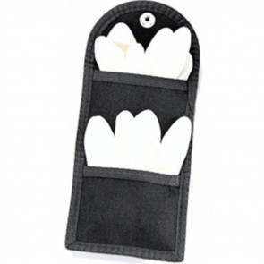 DOUBLE LATEX GLOVE POUCH - BLACK