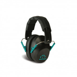 PRO-LOW PROFILE FOLDING EARMUFF - BLACK/TEAL