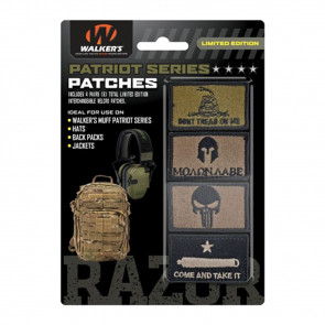 PATRIOT PATCH KIT - 4 ASSORTED PATCHES (AMERICAN FLAG VERSION)