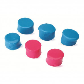 SILICON PLUGS - PINK AND TEAL